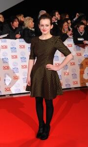 Black tights on show at the NTAs