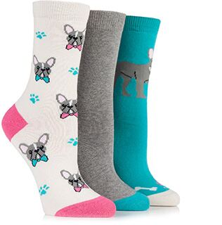 Just For Fun Ladies - Bulldog Socks