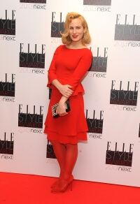 Charlotte Dellal is lady in red