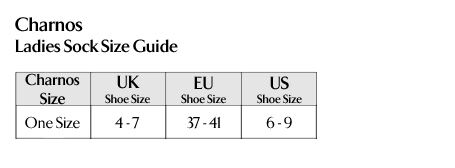Charnos - Ladies Sock Size Guide