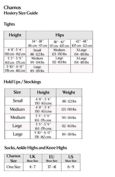 Charnos - Hosiery Size Guide