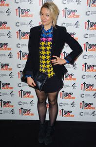 Cherry Healey wows in sheer tights