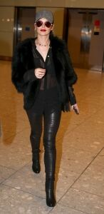 Cheryl sports leather leggings