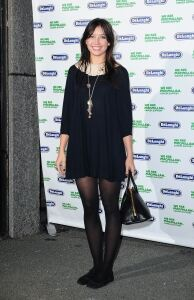 Daisy Lowe does it in black tights