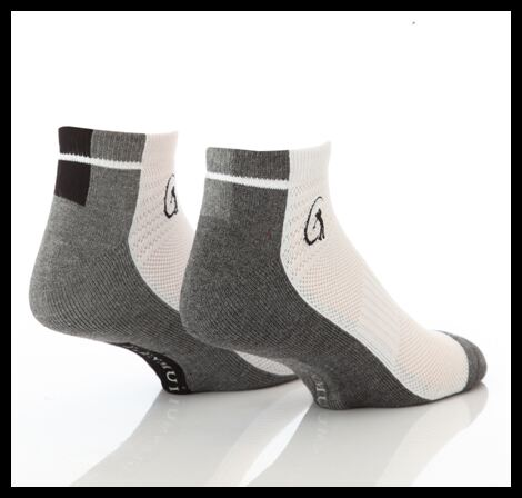 Mens 2 Pair Glenmuir Bamboo Secret Sports Half Cushioned Socks With Arch Support In 2 Colours >
