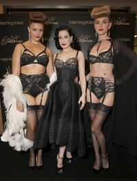 Dita opts for lingerie-inspired dress