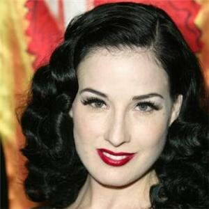 Dita Von Teese in no-tights shocker
