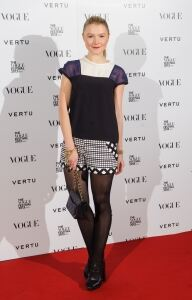 Dressed down Amber at Vogue party