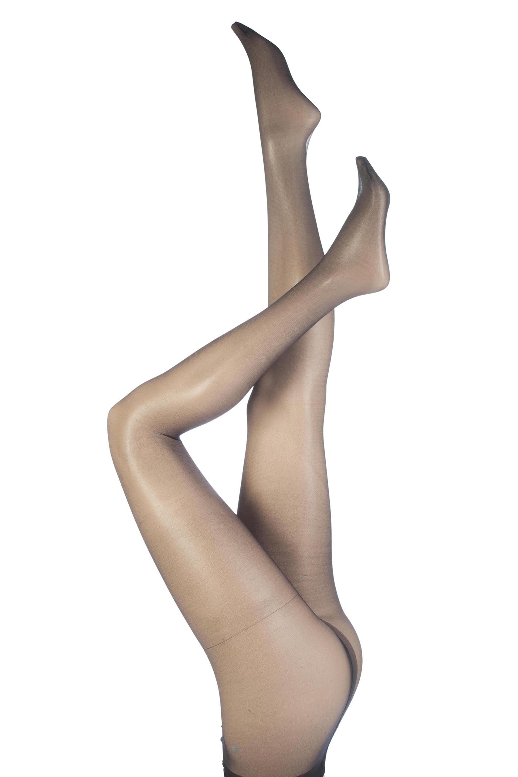 Image of 1 Pair Black 10 Denier Ultra Shine Tights with Silk Finish Ladies Large - Aristoc