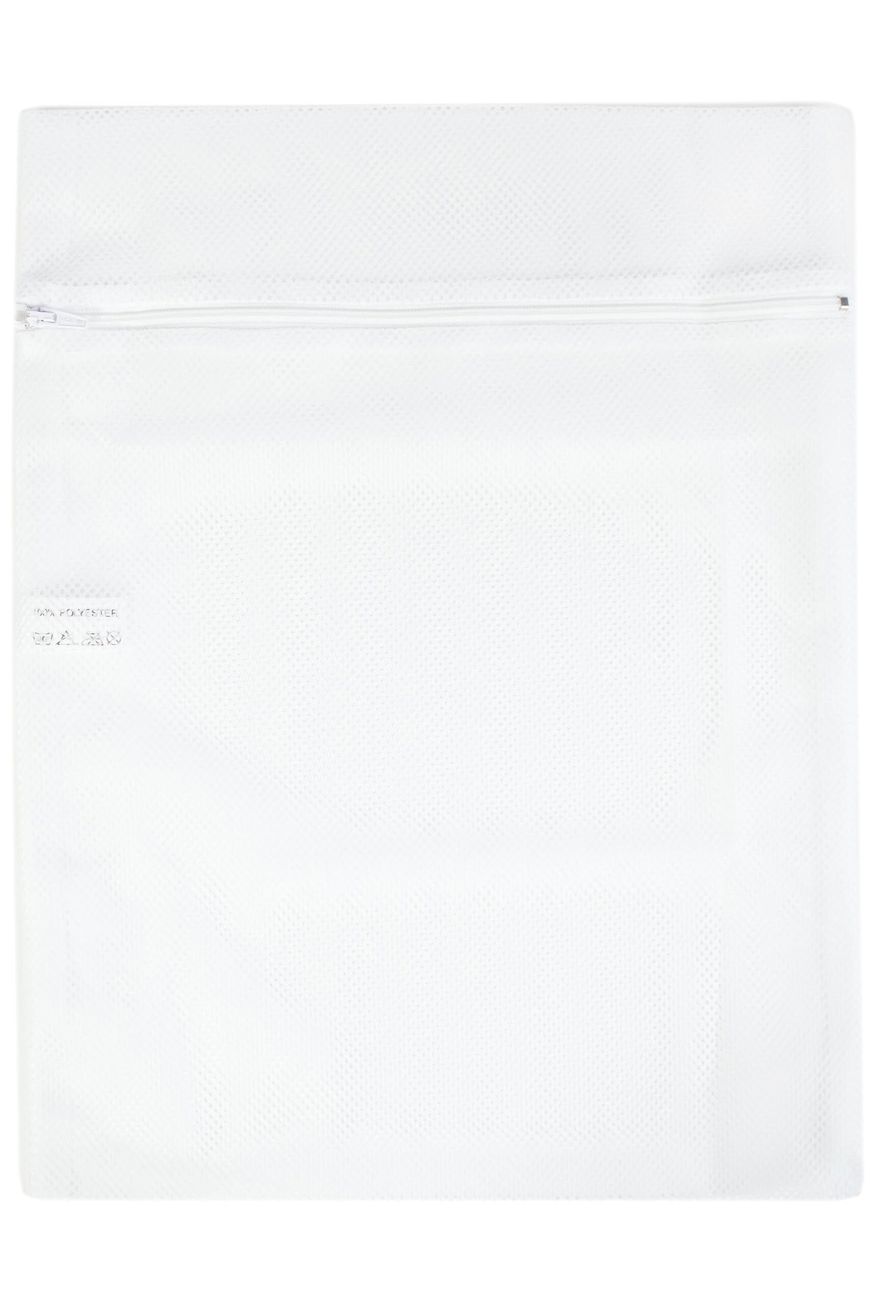 Image of 1 Pack White Wash Bag For Hosiery And Delicates With Zip Ladies One Size - Levante