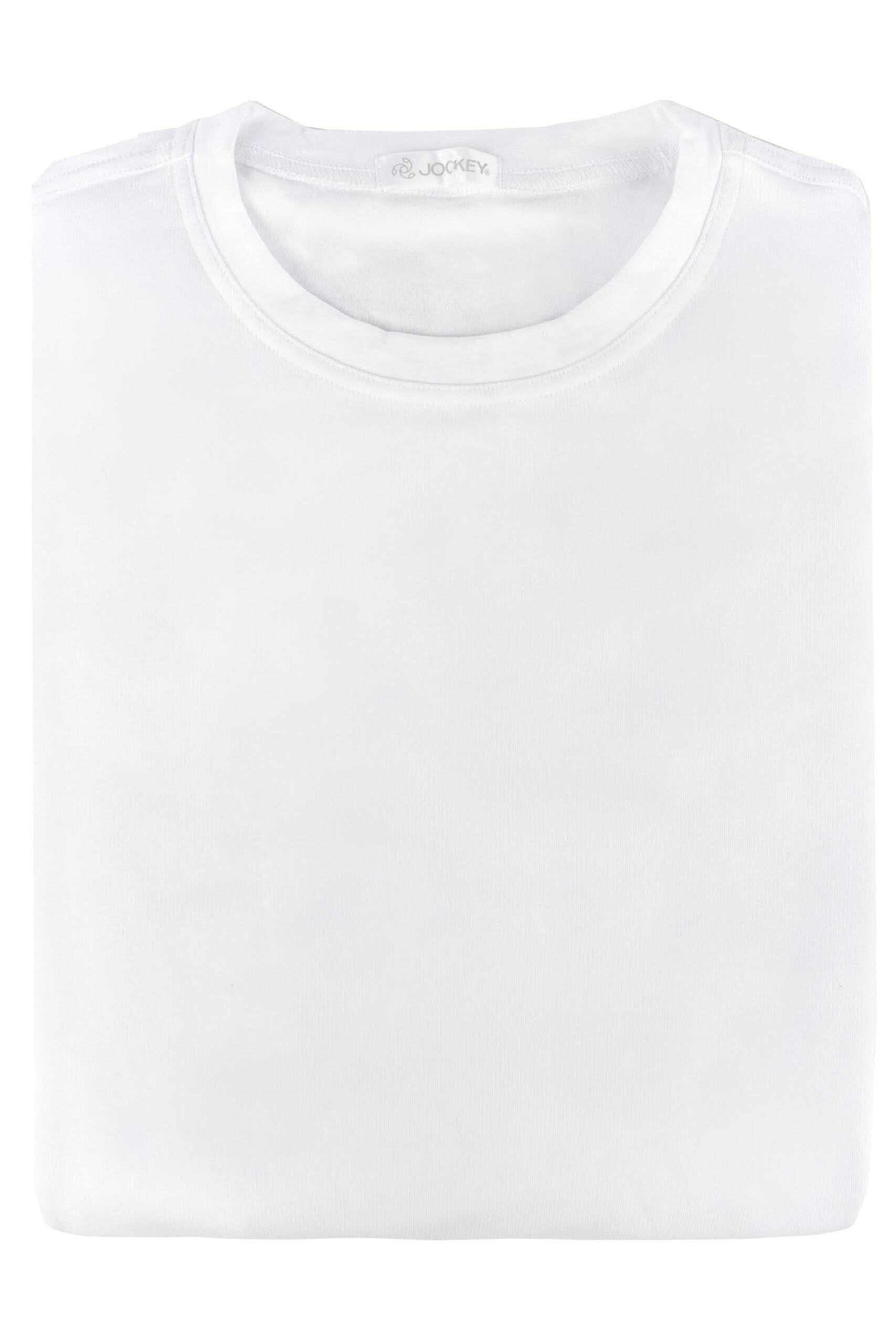 Image of 1 Pack White Thermal Crew Neck Long Sleeve T-Shirt Men's Large - Jockey