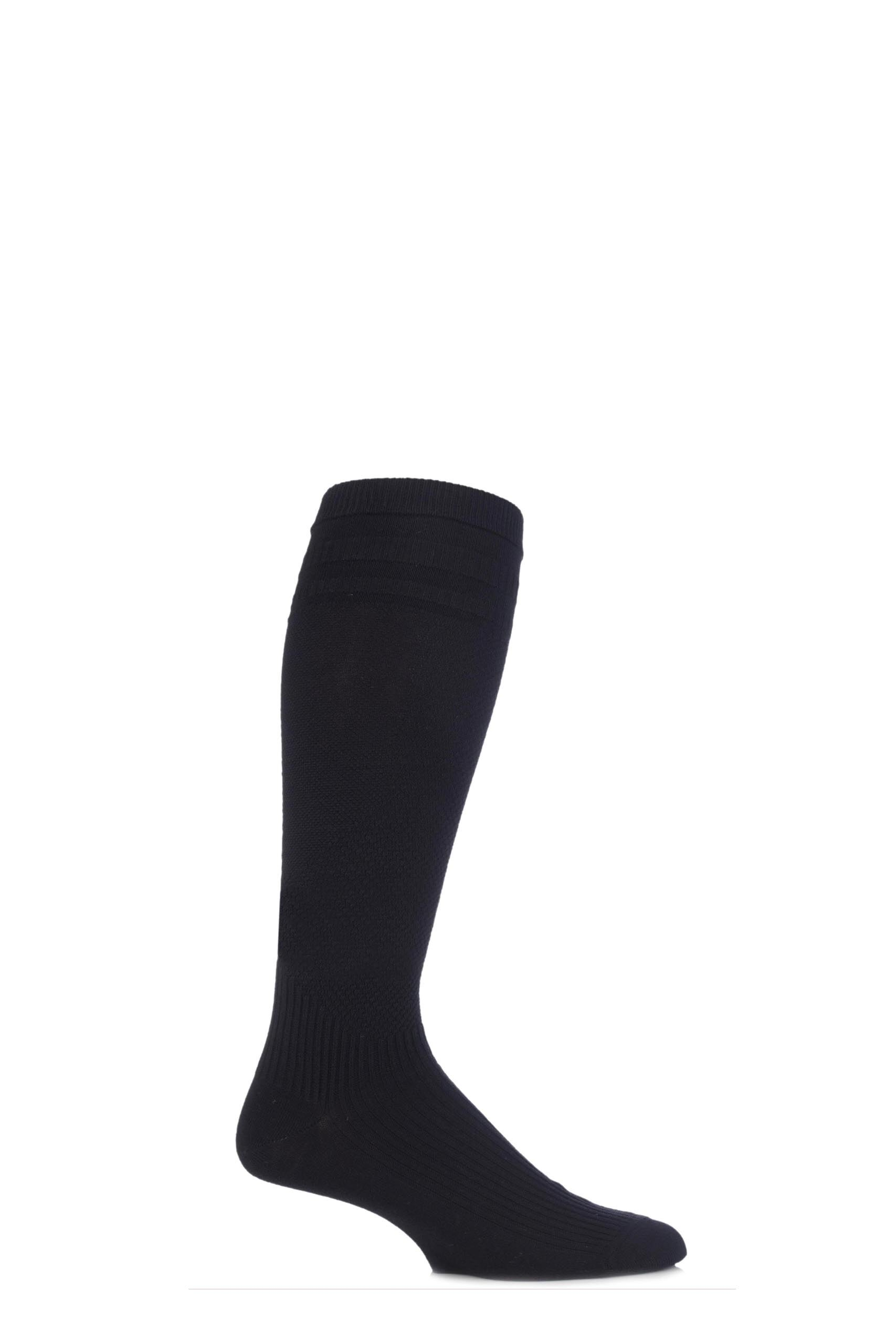 Image of 1 Pair Black Energisox Compression Socks with Softop Men's 9-12 Mens - HJ Hall