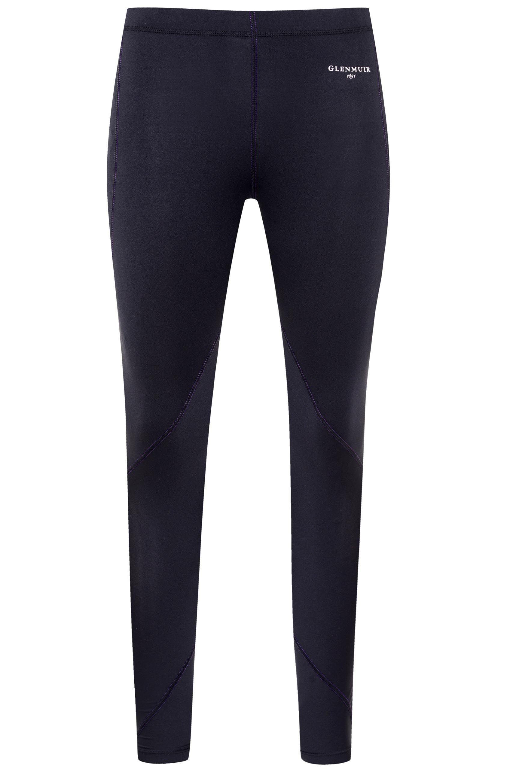 Image of 1 Pack Black Compression Base Layer Leggings Ladies 10-12 Ladies - Glenmuir