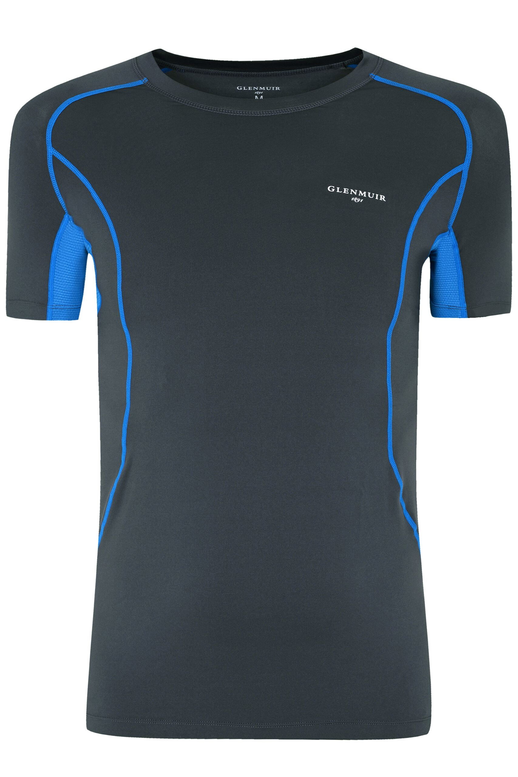 Image of 1 Pack Grey Short Sleeved Compression Base Layer T-Shirt Men's Small - Glenmuir