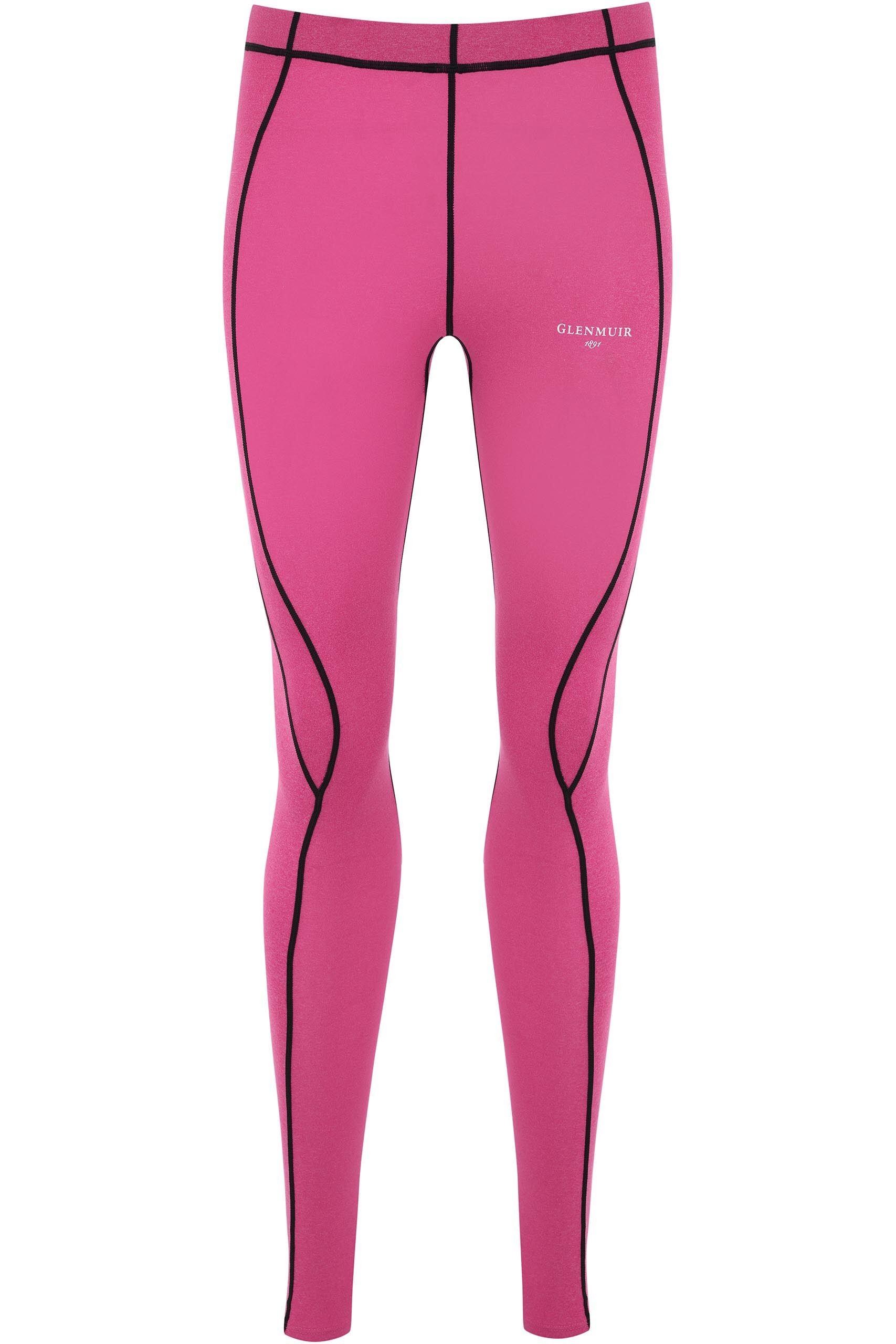Image of 1 Pack Pink Compression Base Layer Leggings Ladies 12-14 Ladies - Glenmuir