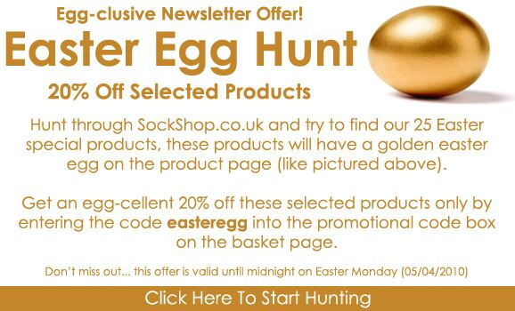 Click Here to Start Hunting for our Easter Special Products at SockShop.co.uk