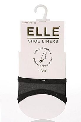 Elle slip in peep toe shoe liners