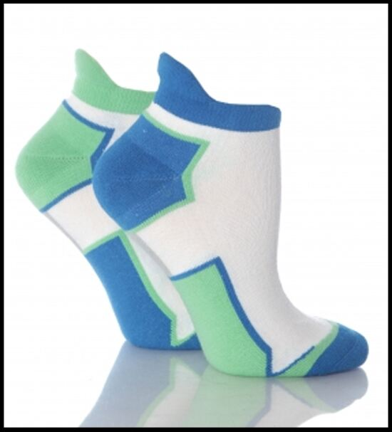 Shop Ladies 2 Pair Elle Sports Trainer Socks In 3 Colours >