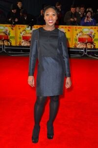 Erivo in tights at Harry's premiere