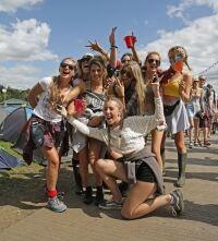 Festival-goers dress to impress