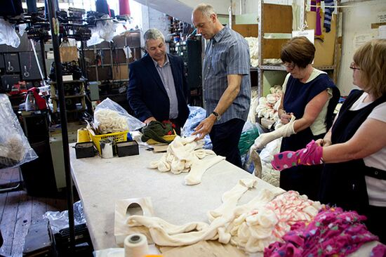 The J Alex Swift team showed us every stage of the sock production process