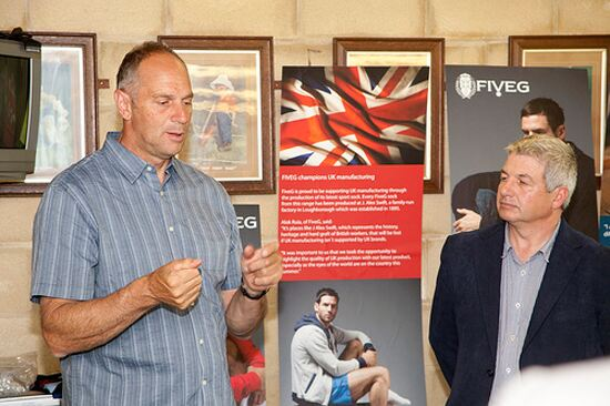 """I was proud to represent my country at the Olympics, and now I'm proud to champion UK manufacturing with this new collection.""  Sir Steve Redgrave"
