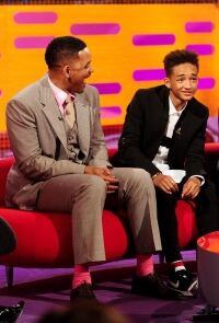 Flash of pink socks for Will Smith