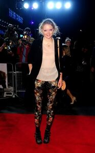 Floral leggings for Lily Cole