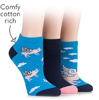 Just For Fun - Flying Pig Socks