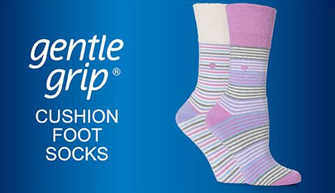 Gentle Grip - Cushion Foot Socks
