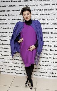 Grace Woodward models block colours