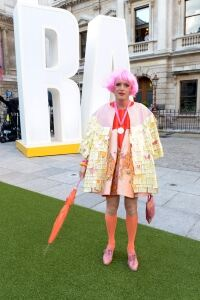 Grayson Perry wears neon socks