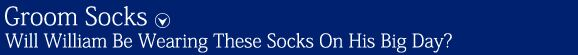 Groom Socks | SockShop Individual Celebrations Embroidered Socks at SockShop