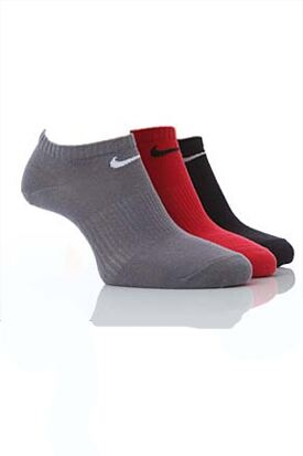 Shop Mens & Ladies 3 Pair Nike Cotton Non-Cushioned No-Show Trainer Socks In 4 Colours >