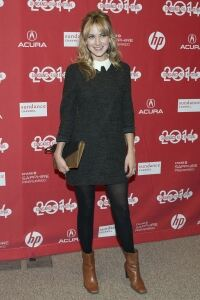 Hagner in tights at Hits premiere