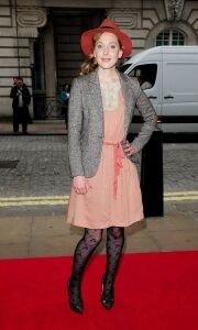 Hattie in flowery tights at showing