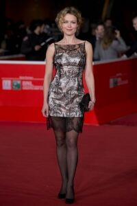 Helle in tights at Rome screening