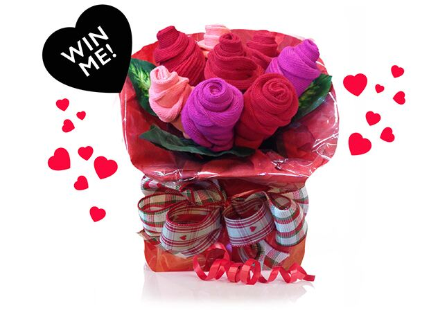 WIN a Valentine's Sock Bouquet >