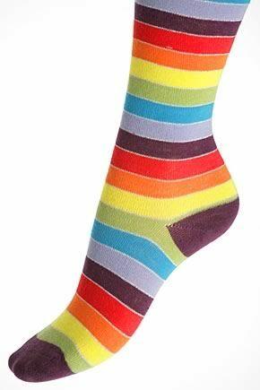 Girls 1 Pair SockShop Rainbow Striped Tights With Lurex