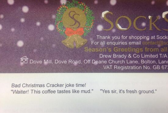 Bad Christmas cracker jokes