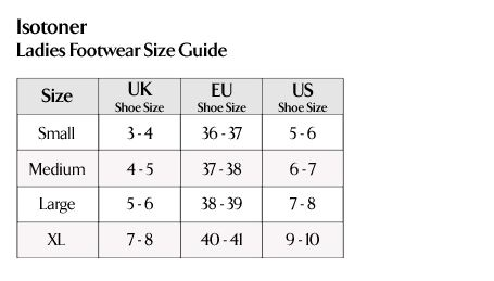 Isotoner - Ladies Footwear Size Guide