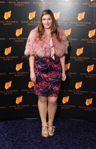 Jessica Hynes models sheer tights