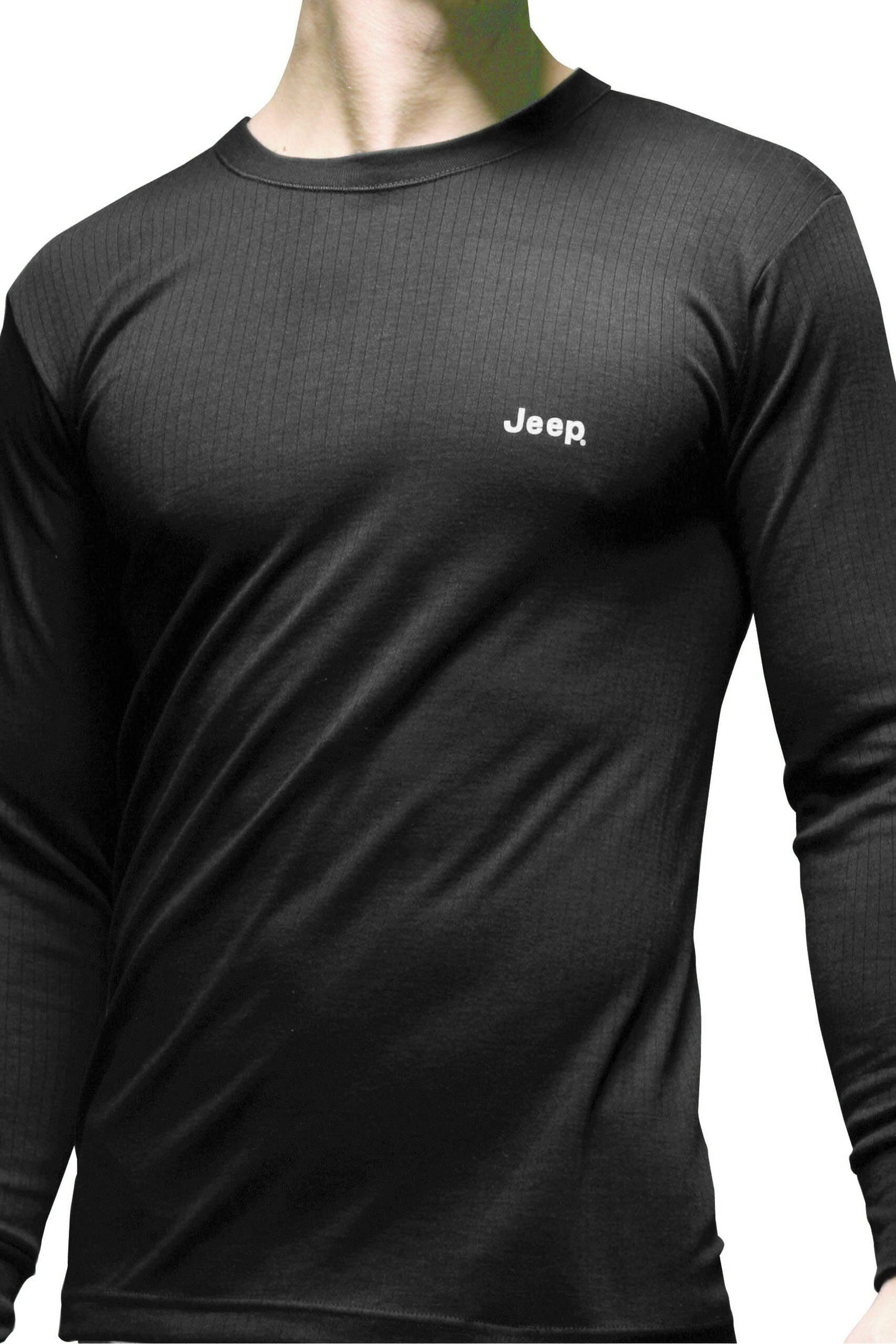 Image of 1 Pack Black Long Sleeved Thermal T-Shirt Men's Large - Jeep