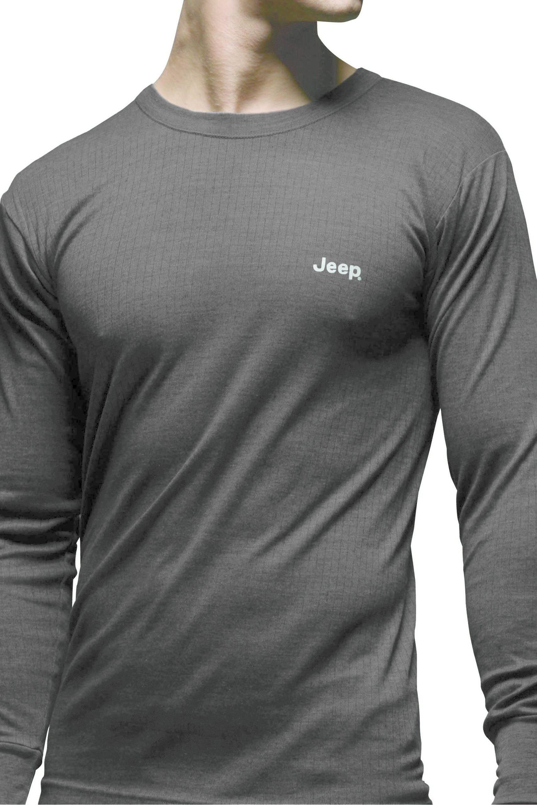 Image of 1 Pack Grey Long Sleeved Thermal T-Shirt Men's Medium - Jeep