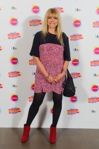 Jo Wood rocks black tights