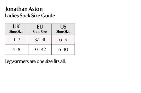 Jonathan Aston - Ladies Socks Size Guide