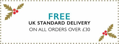 FREE UK Standard Delivery on all orders over £30