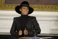 Keys brims with joy at White House