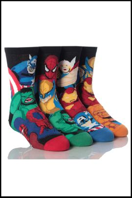 Shop Boys 4 Pair Marvel Heroes Mixed Socks >