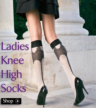 Ladies Knee High Socks at SockShop